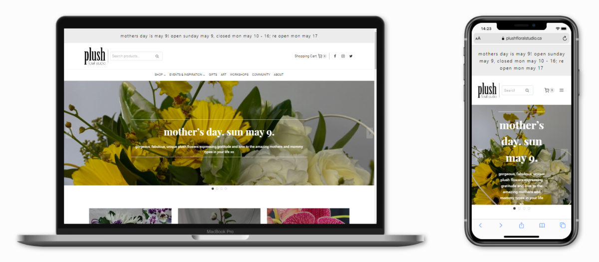 WordPress Website Portfolio (Plush Floral Studio)